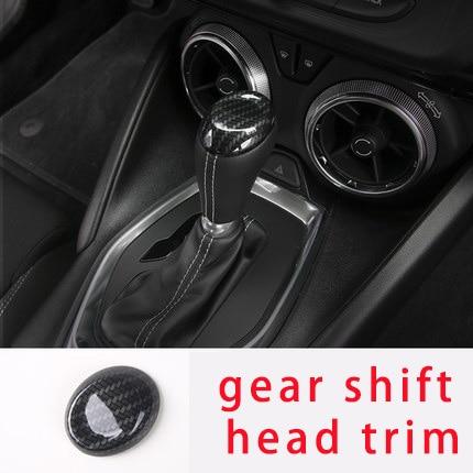 For Camaro Bumblebee 17-20 carbon fiber gear shift head trim molding trim