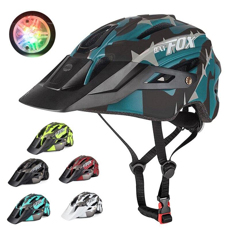 Casco de bicicleta cascos de bicicleta hombres mujeres MTB Ciclismo de Carretera LED cascos ultraligeros EPS + PC casco Protector transpirable casco de seguridad