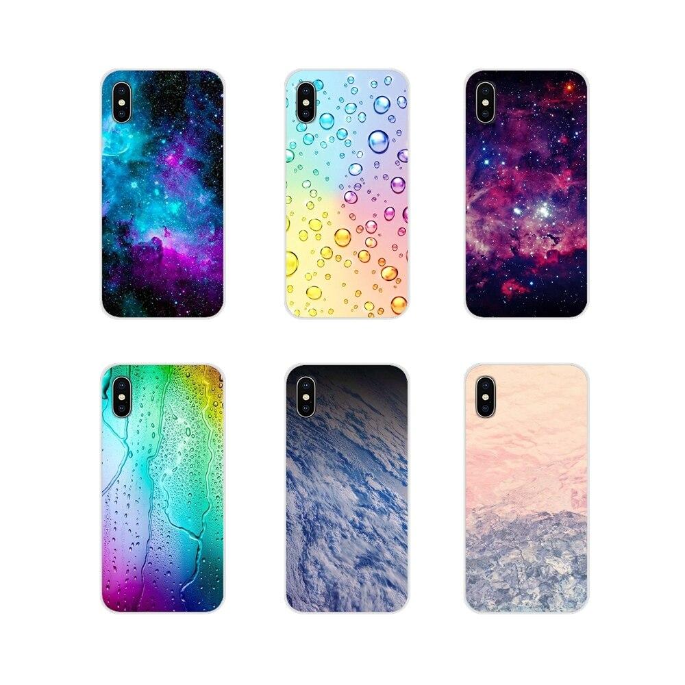 Transparent TPU Shell Covers For Sony Xperia Z Z1 Z2 Z3 Z5 compact M2 M4 M5 E3 T3 XA Huawei Mate 7 8 Y3II Pink Purple Aqua space