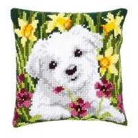 latch hook cushion yarn for cushion cover animal flower dog pillow case sofa cushion printed canvas pillow home decorative
