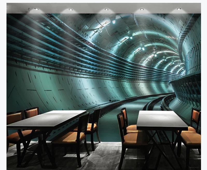 Papel tapiz de foto personalizado papeles tapiz decoración del hogar extensión túnel pared sala de estar papeles pintados de fondo para pared