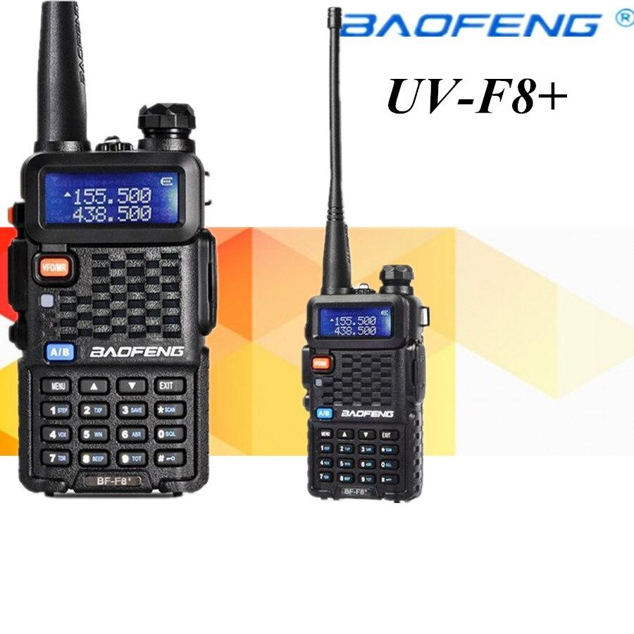 2 pcs baofeng BF-F8 + portátil walkie talkie dupla banda presunto vhf uhf estação de rádio transceptor boafeng amador woki toki ptt