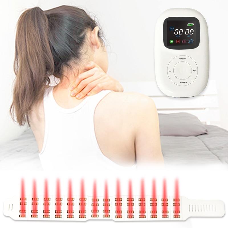 قابلة للشحن آلام الرقبة المخلص المادية الأشعة تحت الحمراء LED جهاز علاجي بالضوء الأحمر للتدليك فقرات عنق الرحم وآلام أسفل الظهر