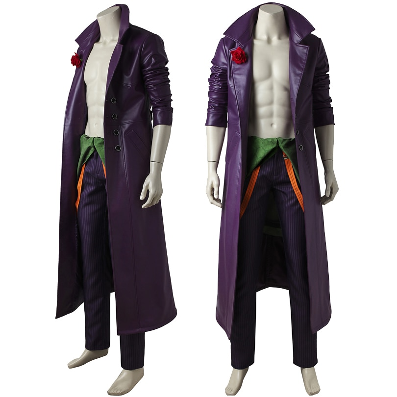Game Injustice 2 Cosplay Costume Joker Purple Jacket Fancy Halloween Party Outfit Masquerade Cool Clothing
