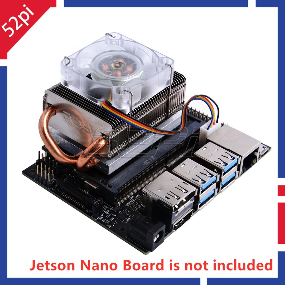 52Pi Ice Tower Вентилятор охлаждения супер 7 цветов RGB меняющий светильник для NVIDIA Jetson Nano плата разработчика