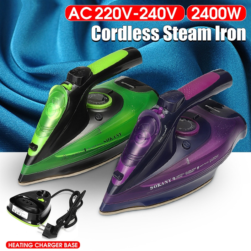 2400W Professional Steam Iron 5-speed Wireless Charging Steam Iron 220-240V Clothes Ironing Home Travel Garment Ironing Machine