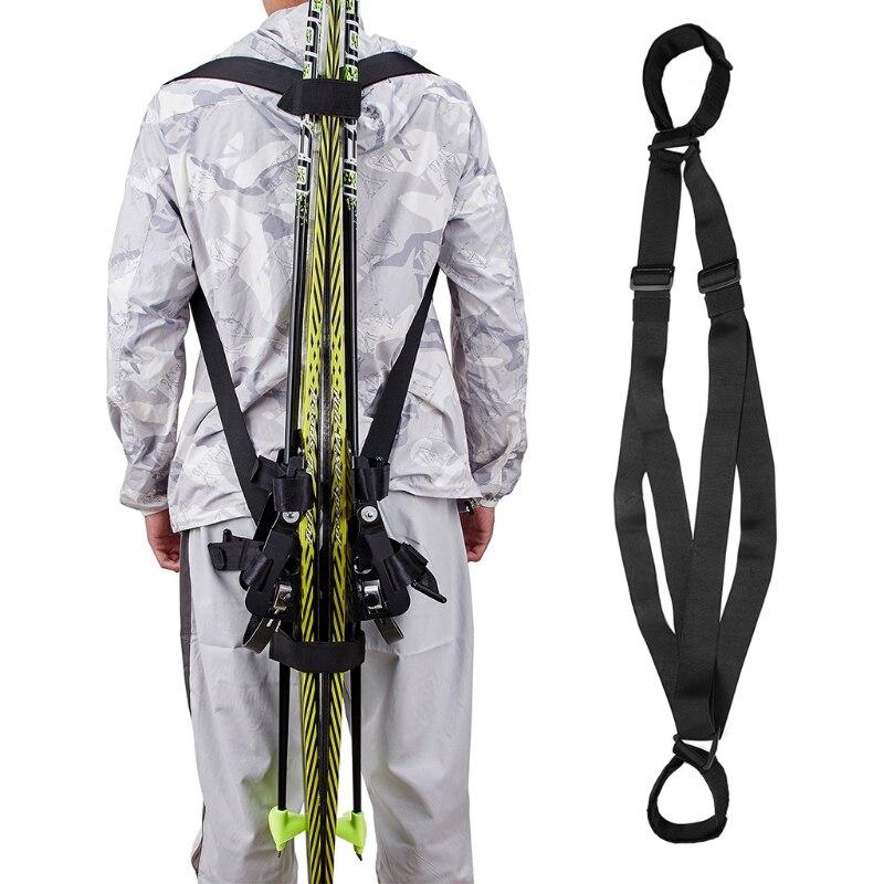 Bolsa de esquí y bastones, mochila de esquí y bastones, con correa...