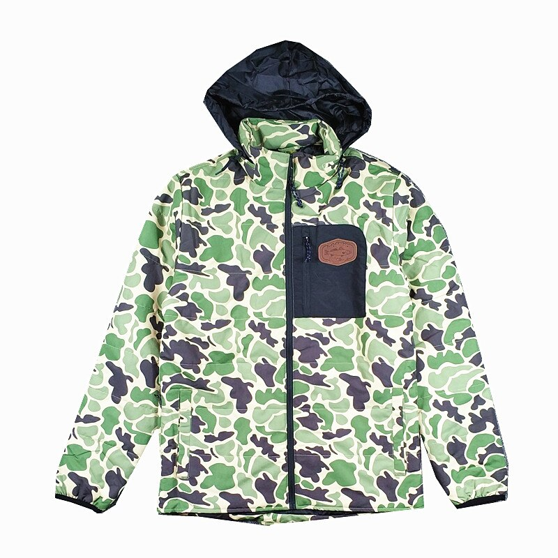 Men's Camouflage Hungting Quilted Zip Winter Jacket camouflage print zip up jacket