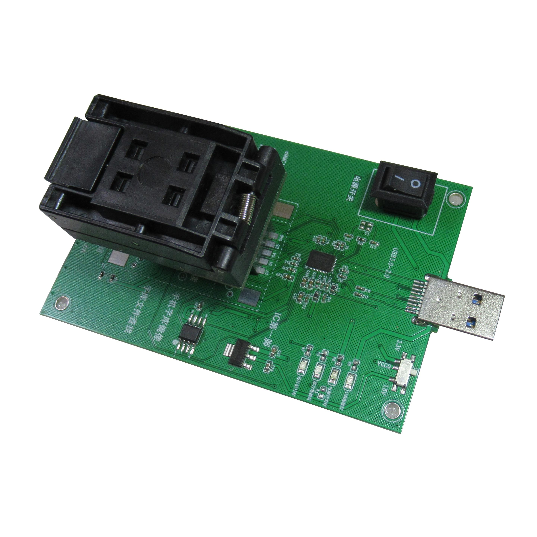 Enchufe de prueba BGA169 de Emmc153/169 A USB3.0, toma de corriente ardiente para leer y escribir Recuperación de datos