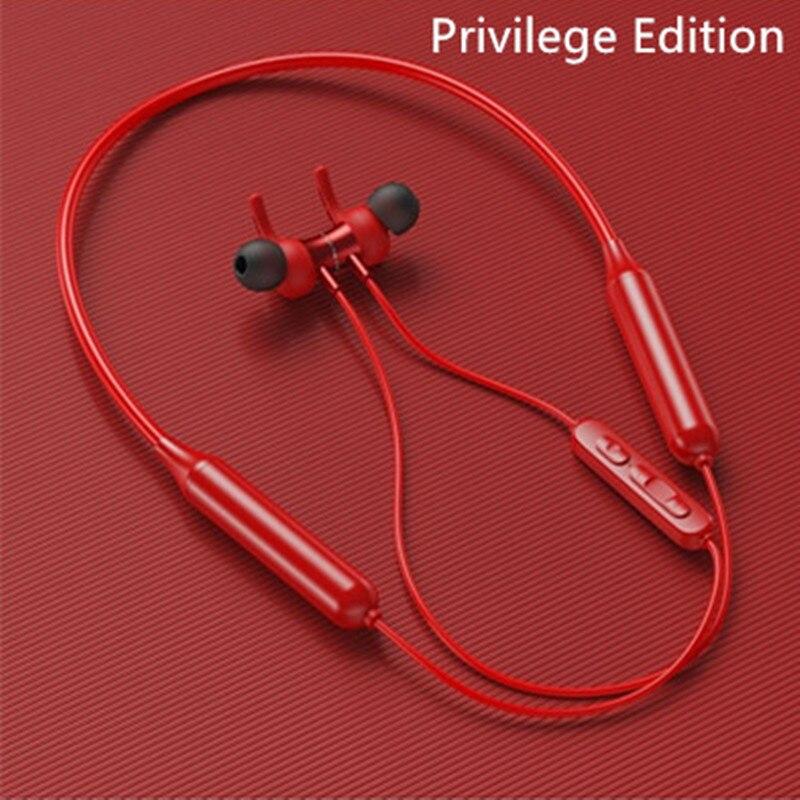 Bluetooth earphones 5.0 Wireless Sports Headphones Stereo Subwoofer Hanging neck-mounted magnetic waterproof headset