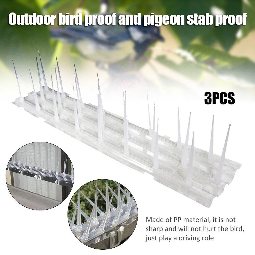 3 sztuk odstraszacz ptaków plastikowe anty-ptaki Pin balkon odkryty anty-gołębie cierń narzędzie QJS sklep
