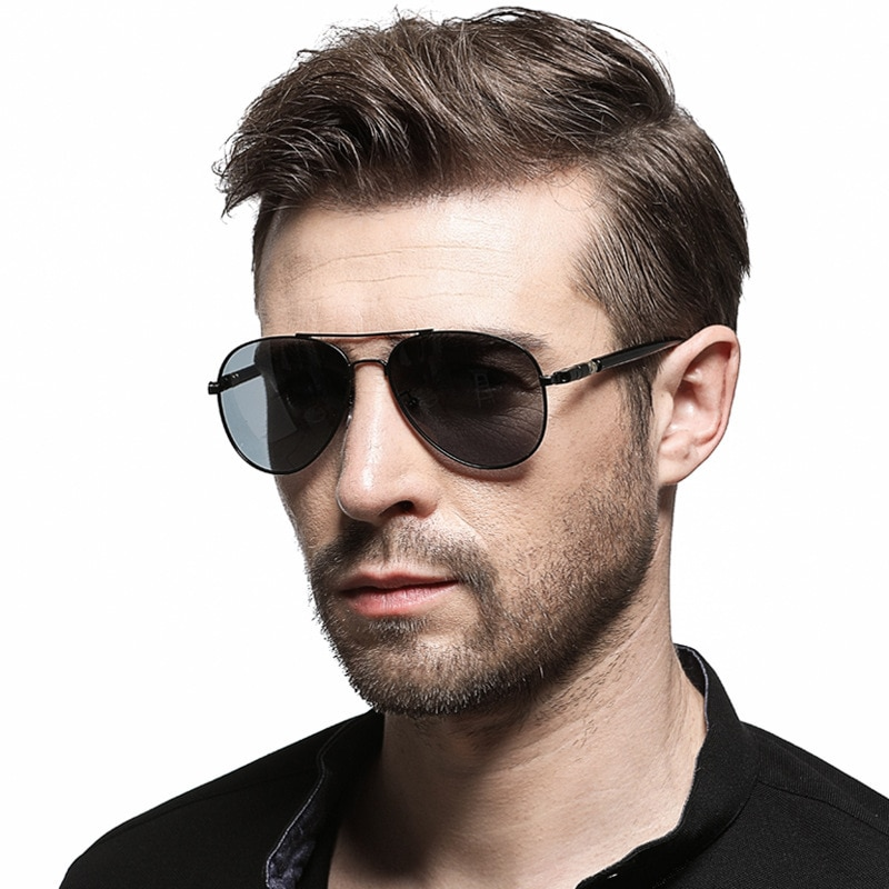 Photochromic Sunglasses Day and Night Vision Driving Sun Glasses Mens Aviation Polarized UV400 Women
