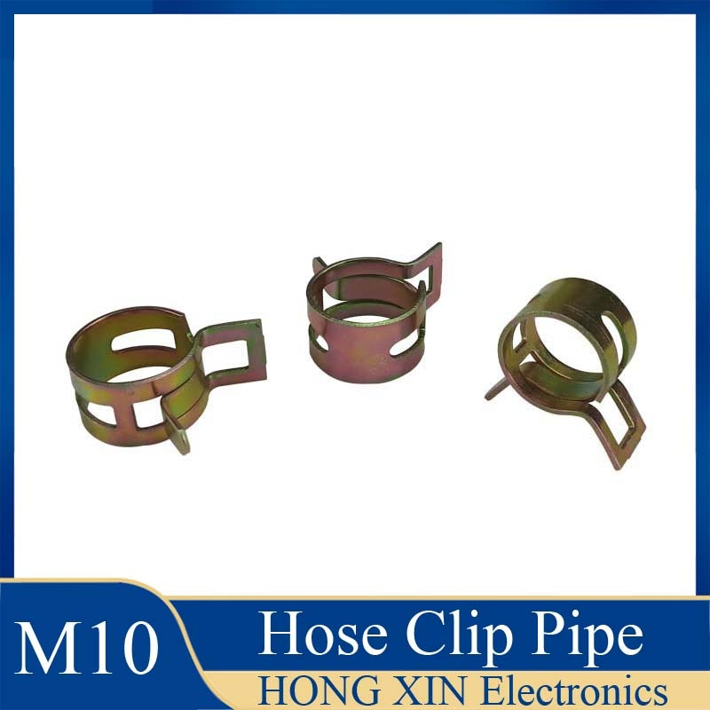 1Pcs 10mm for choose Fuel Spring Clip Vacuum Silicon Hose Clamp Autos Autos Spring Clip Fuel Oil Water Hose Pipe Tube Clamp