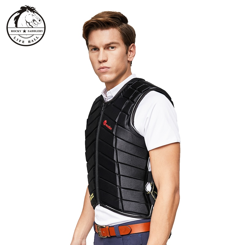 Cavassion Protective vest Thickened equestrian armor Equestrian riding safety equipment Unisex horse riding vest Size S M L XL