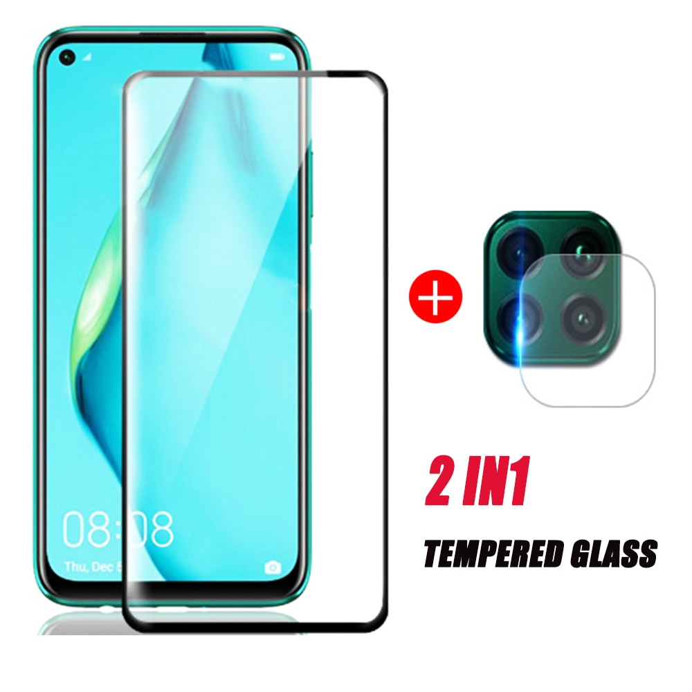 Lente de cámara 2 en 1, cristal templado para huawei p40 lite, protector de pantalla de cristal, hauwei p 40 light p40lite 40 lite P40lite e p40