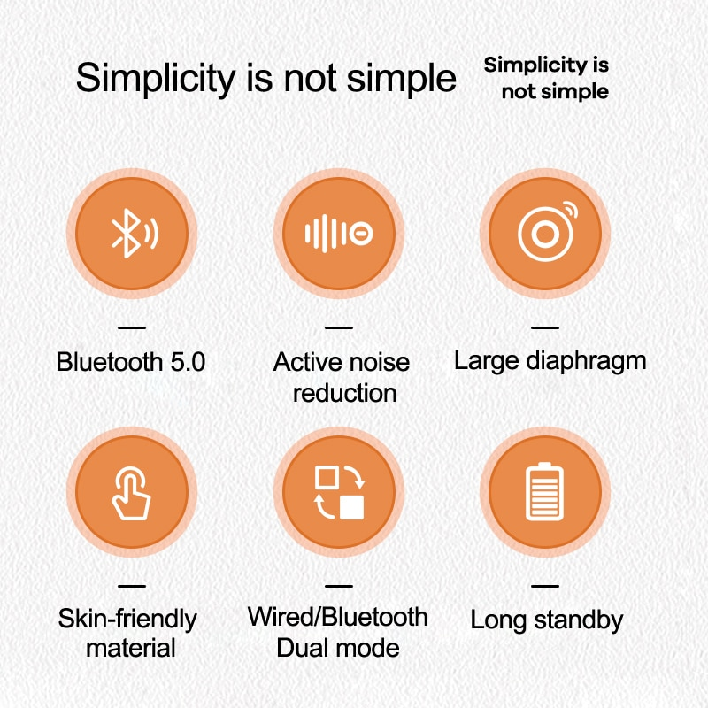 REMAX HIFI Wireless Bluetooth Noise Reduction Headset With Microphone Headphone Xiaomi Samsung Mobile phone Tablet computer enlarge