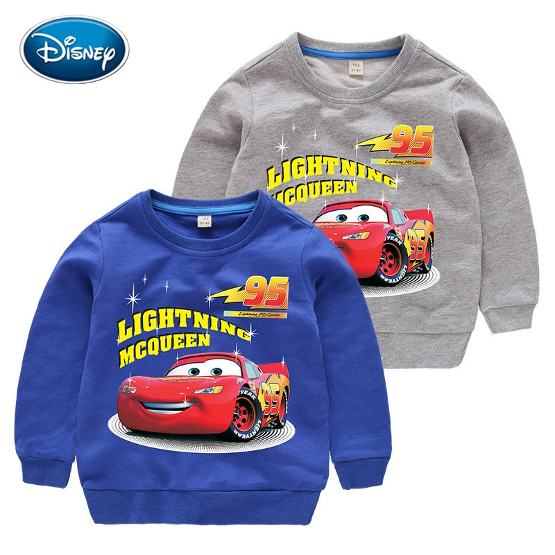 Свитер с мультяшным принтом Диснея, детская одежда, хлопковый свитер для мальчиков, Детский свитер с принтом автомобиля с молнией, 3 8 лет|Толстовки и кофты| | АлиЭкспресс