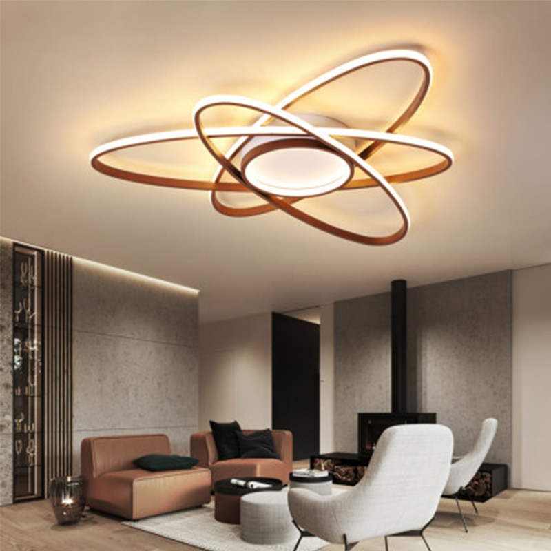 Geometric heteromorphism New arrival Modern Simplicity Ceiling Lights LED  For Living Room Bedroom Study Coffee color  Ceiling L