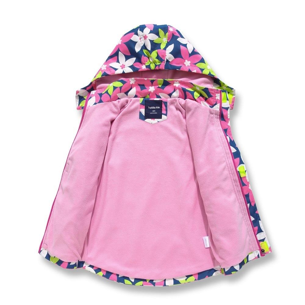 New Spring Autumn Child Kid Clothe Baby Girl Windproof Waterproof Jacket Outwear Double Deck Inner P