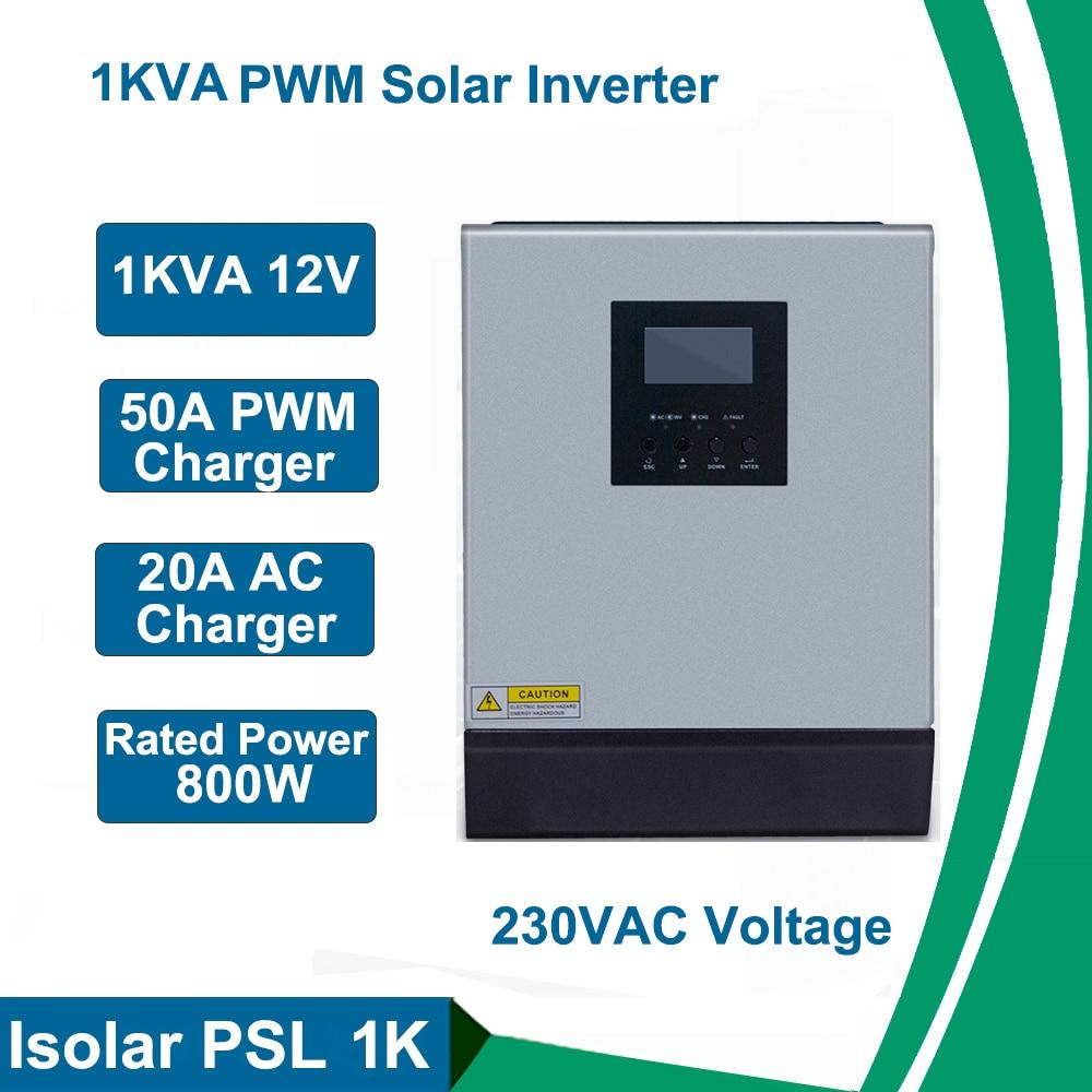 عاكس للطاقة الشمسية بموجة جيبية نقية ، 1 كيلو واط ، 12 فولت ، 220 فولت ، جهاز تحكم في الشحن ، 50 أمبير PWM ، جهاز تحكم في الشحن المنزلي ، عاكس هجين