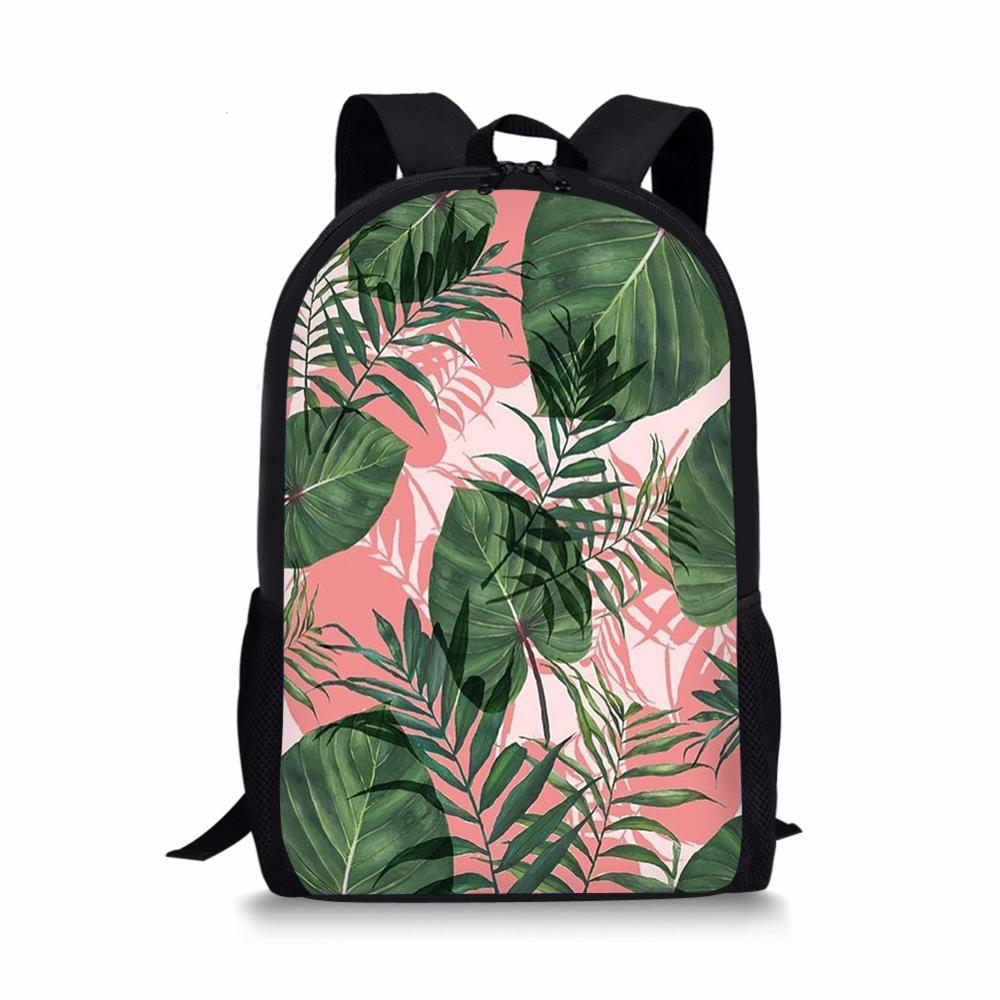 2020 latest customizable plant printing youth school bag student school bag men and women backpack school bag female backpack emoji backpack school bag