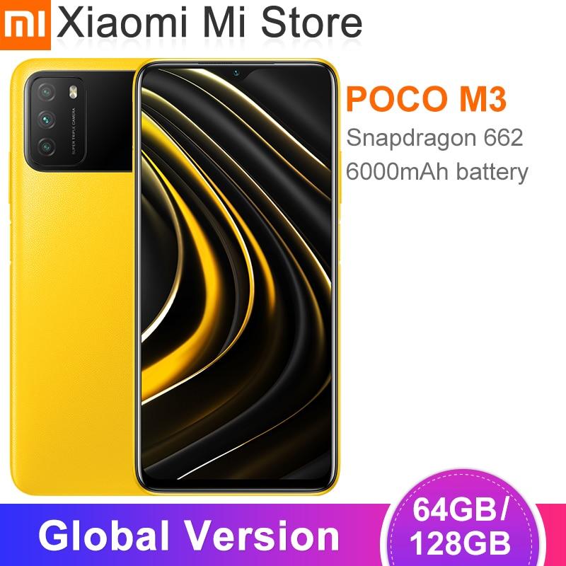 In Stock Global Version POCO M3 Smartphone 4GB 64GB /128GB  Snapdragon 662 Octa Core 6000mAh Battery 48MP Camera Cellphon