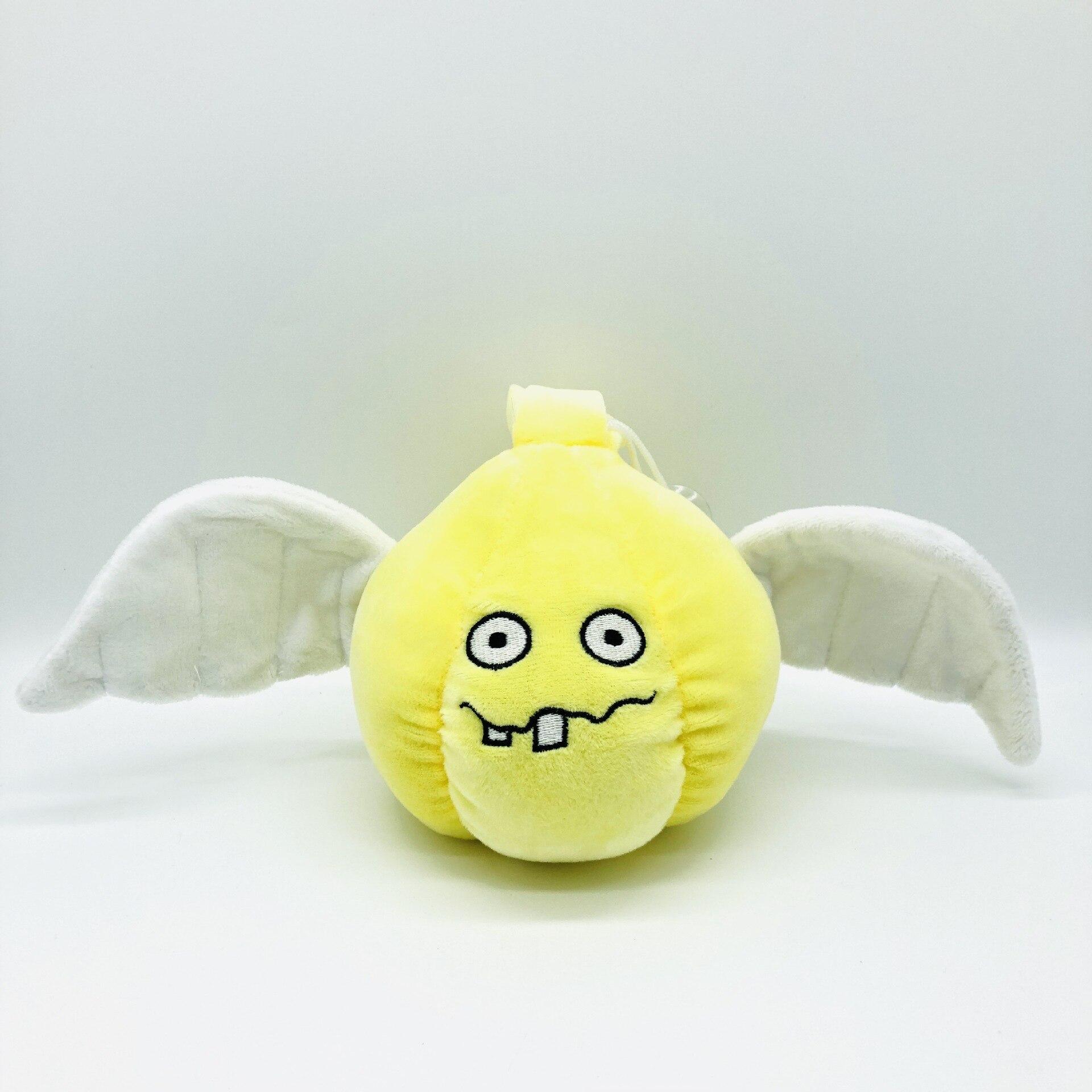 15cm de alta anime jogos boneca plantas vs zumbis pelúcia macia pp algodão alho anjo pequeno brinquedo