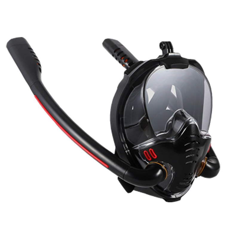 adult swimming swim diving scuba full dry snorkel snorkeling accessories professional silicone diving snorkel tube equipment 2020 New Swimming Mask Adult Men Women Snorkel Mask Double Breath Mascara Tube Silicone Full Dry Scuba Diving Goggles Equipment