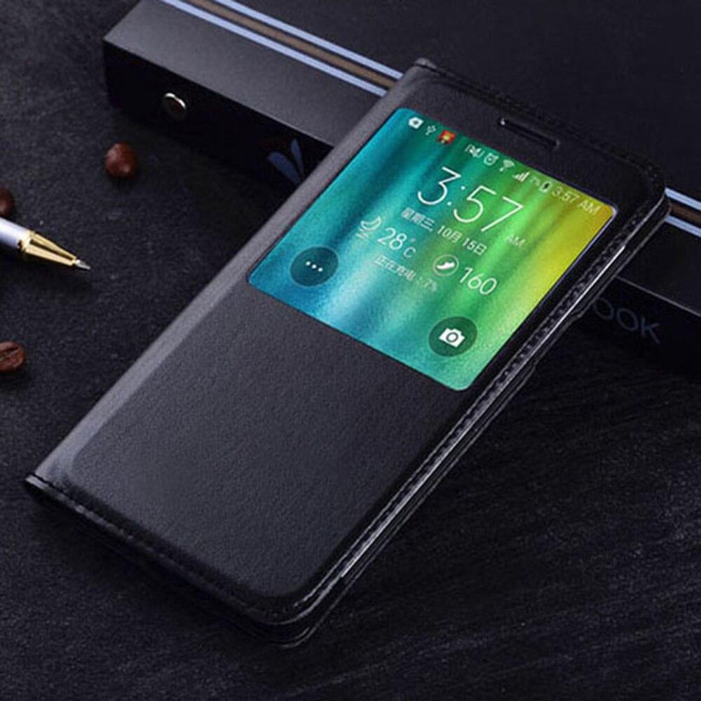 Smart View-Funda de cuero con tapa para teléfono móvil Samsung Galaxy, protector...