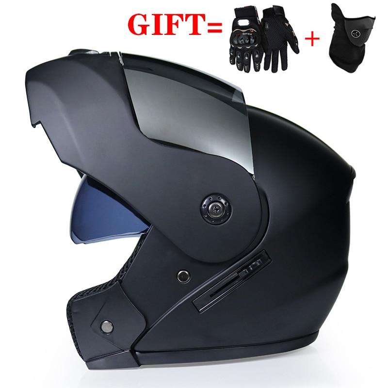 AliExpress - Men Children 2 Gifts Unisex Racing Motocross Modular Dual Lens Carbon Motorcycle Helmet Full Face Safe FlipUp Cascos Para Moto