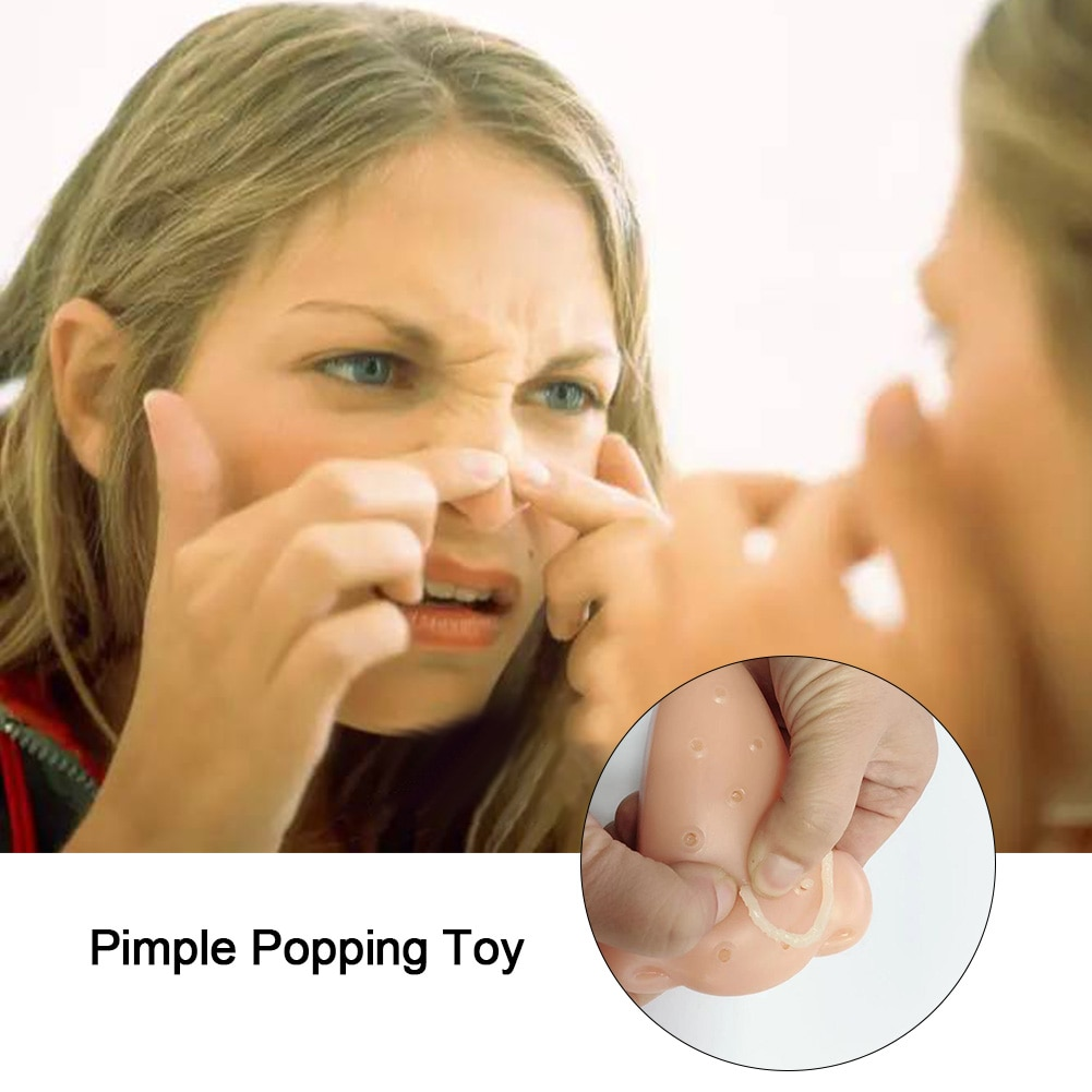 Pimple Popping Popper Novelty Gags Practical Jokes Funny Toys Remover Stop Squeeze Acne Anti Stress Toy For Child Adult enlarge