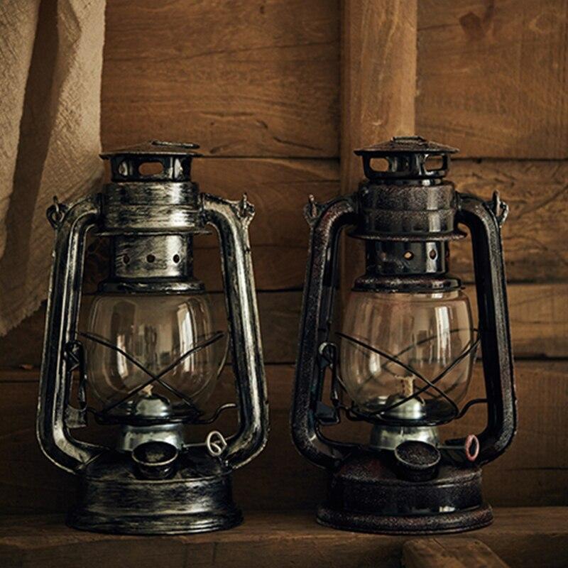 Ретро железная керосиновая лампа с фитилем ВИНТАЖНАЯ фотография реквизит украшение для дома для кофейни статуэтки миниатюрная керосинова...