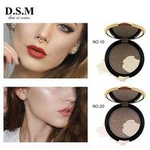 D.S.M flambant neuf poudre bronzant 2 couleurs maquillage éclaircir couverture complète ombrage poudre huile-contrôle Base maquillage bronzant poudre