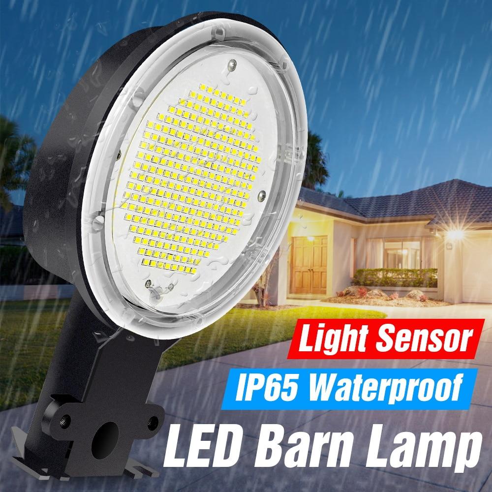 WENNI LED lámpara de Granero 35W 50W 70W 80W 100W 120W LED Luz de calle 220V reflectores IP65 impermeable LED Bombilla 110V Sensor farola