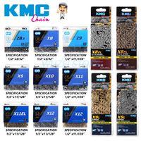 Цепь KMC в штучной упаковке, 8/9/10/11/12 скоростей, цепь X8 X9 X10 X11 X12 Z8.3 X9L X11EL X11SL, золотистая/Серебристая цепь для горного велосипеда