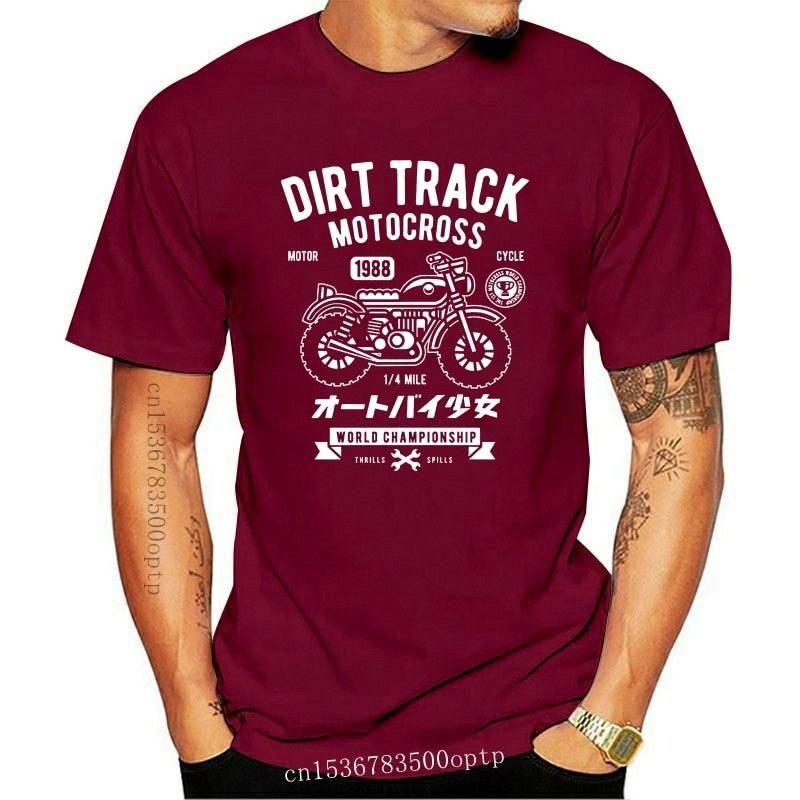 New Funny Clothing Casual Short Sleeve Tshirts DIRT TRACK MOTOCROSS T SHIRT MOTOR World Championship mens Black S-3XL T-shirt