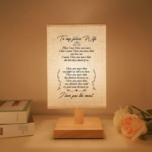 To My Future Wife Booklight Reading Lights A Wonderful Gift.