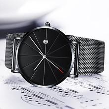 Men's Watch Luxury Ultra-thin Watch Men Steel Mesh Belt Fashion Watch Monte Homme Calendar Clock Rel