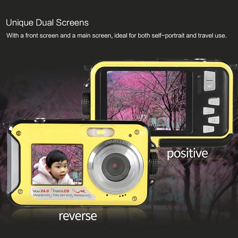 Videocámara Digital LCD de 2,7 pulgadas, HD, 24MP, 16X, Zoom Digital, 1080P, 30fps, resistente al agua, para Selfie