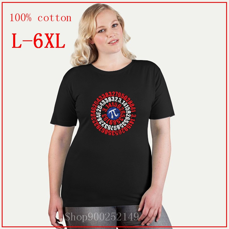 Camiseta con estampado Original de capitán Pi, camisetas gráficas de gran tamaño 4XL 5XL 6XL, camisetas para mujer, camiseta de verano 2020 para mujer