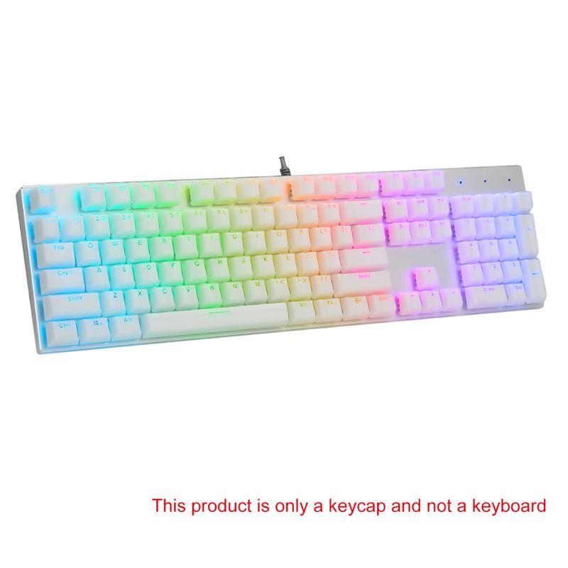 104 klawisze układ klawiszy zestaw do klawiatury mechanicznej podświetlany Crystal Edge Design Cherry MX z kluczem ściągacz Dropship