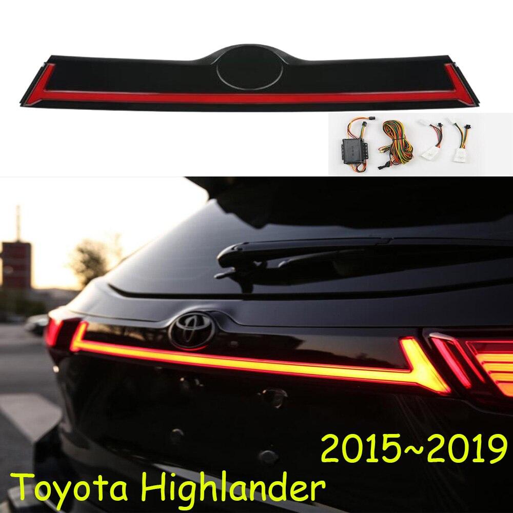 Kluger, luz trasera dinámica para parachoques de coche para Highlander, luz trasera LED, accesorios de coche, Taillamp para highlander, luz trasera antiniebla