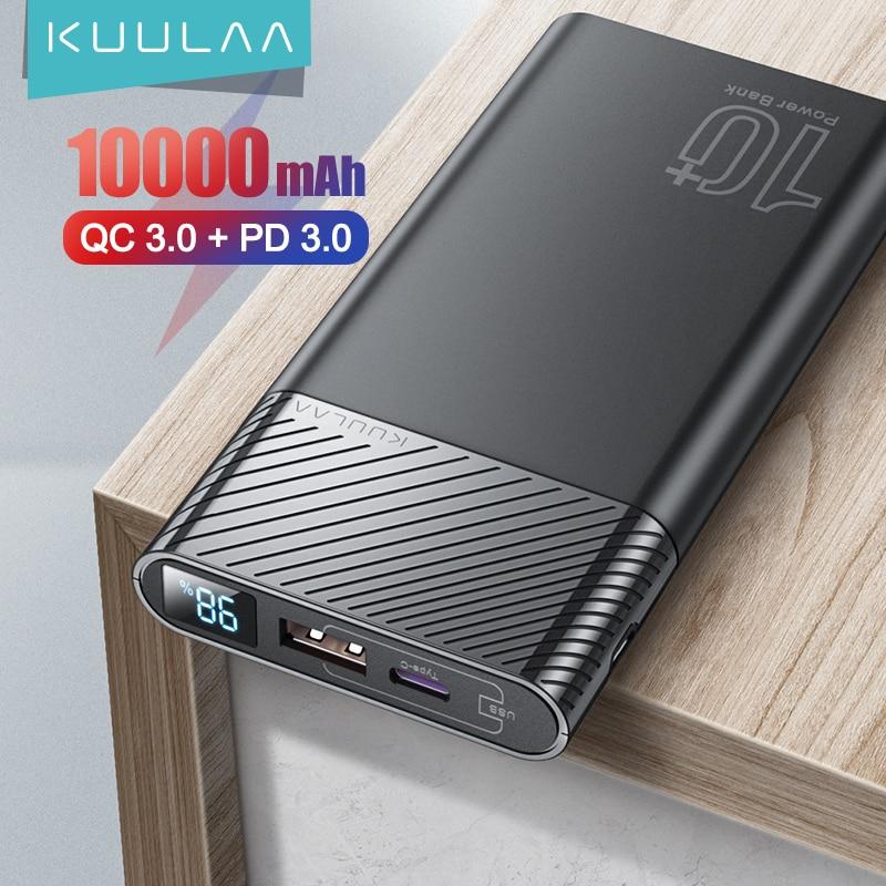 KUULAA Power Bank 10000mAh QC PD 3.0 PowerBank Fast Charging portable charger Poverbank For xiaomi m