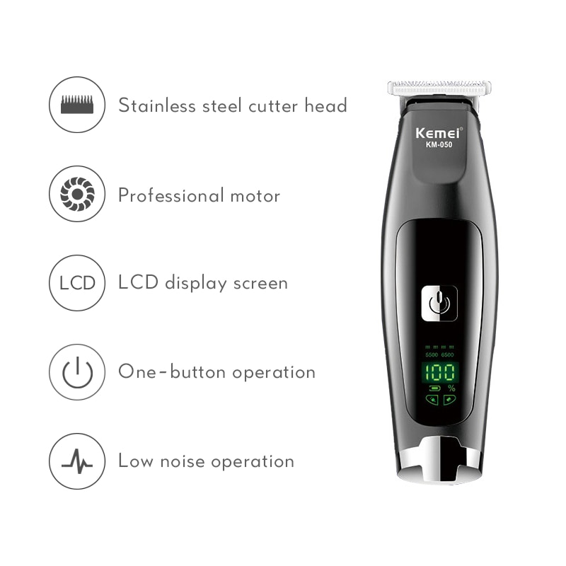 USB Rechargeable Hair Trimmer Men Barber Electric Cordless Shaver Trimmer Skeleton Hair Clipper 0mm Razor Hair Cutting Machine enlarge