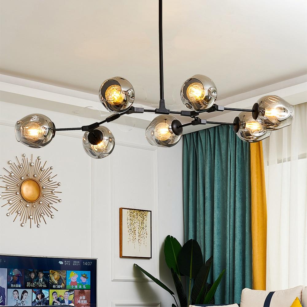 Светодиодные люстры в скандинавском стиле, современные комнатные потолочные светильники для гостиной, декоративные осветительные приборы...