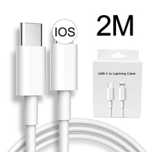 2M 20W PD Fast Charging USB-C Type-C Cable Cord Charger for iPhone 12 Pro Max mini 11 Xs Xr X 6 7 8