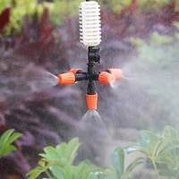 garden sprinklers automatic watering grass lawn 360 degree circle rotating water sprinkler 5 nozzles garden pipe hose
