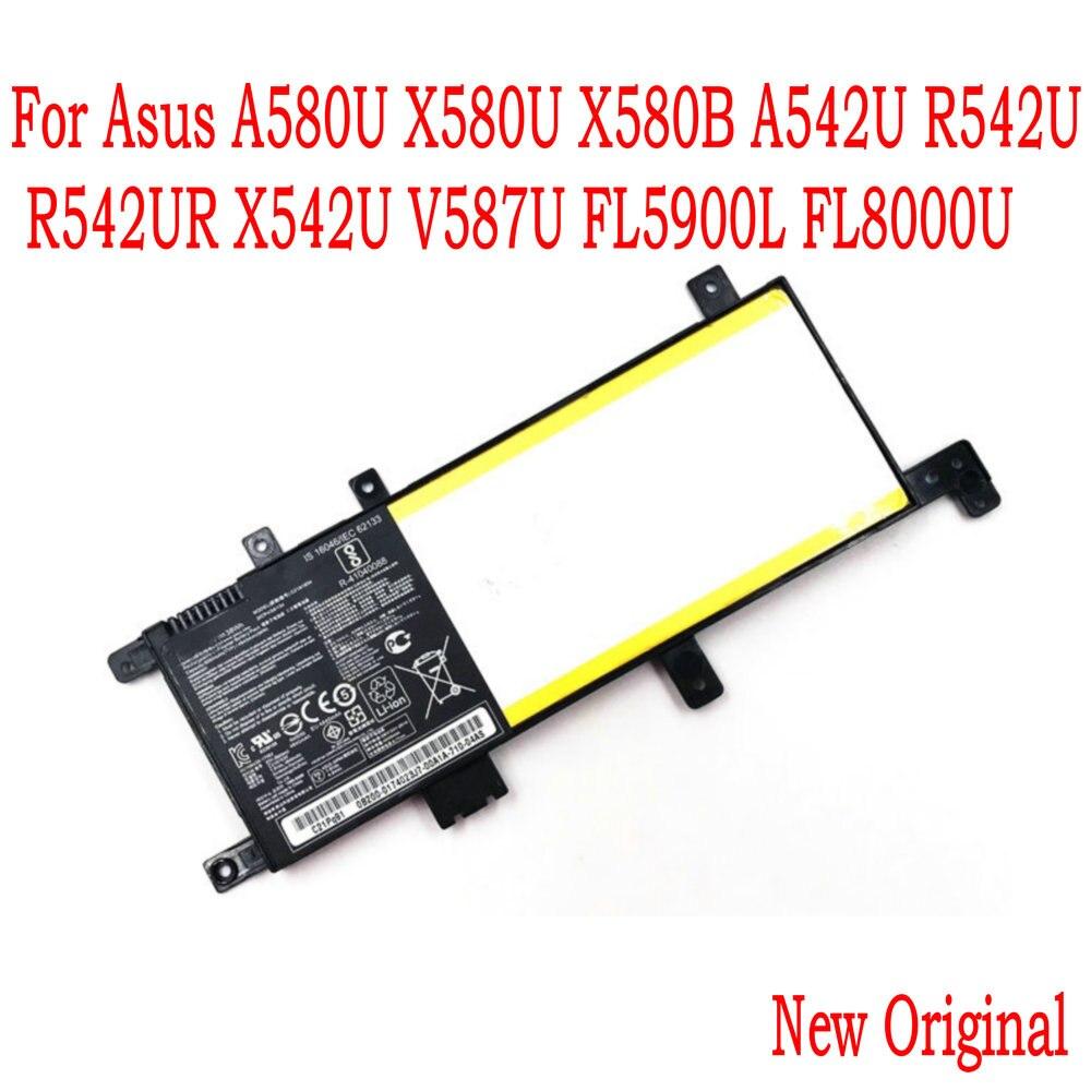 Высокое качество 7,6 V 38WH C21N1634 Аккумулятор для ноутбука ASUS A580U X580U X580B A542U R542U R542UR X542U V587U FL5900L FL8000U