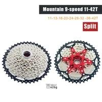 910 speed split mountain bike cassette flywheel 42t silver golden mountain bike lightweight flywheel bicycle part
