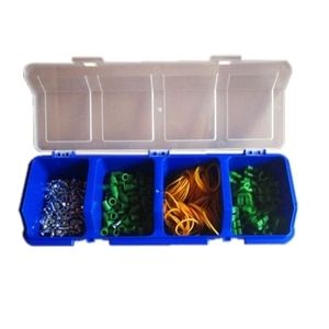 P82C Plastic Tools Storage Box with Cover Parts Screw Toolbox Case Components Sorting